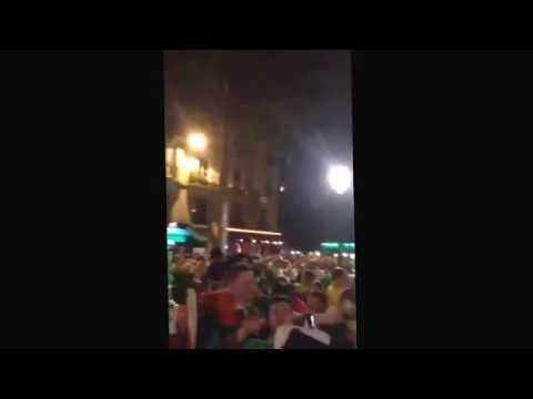 Irish Fans Sing Oasis Don't Look Back In Anger In Paris France - Euro 2016