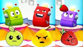 Talking Tom 2 - Kids Learn Colors With Dot vs CRAZY FRUITS! Funny Educational Cartoon For Children