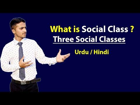 Social Class & Three Major Social Classes - Explained in Hindi / Urdu