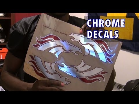 Healy Awards Chrome Helmet Decals