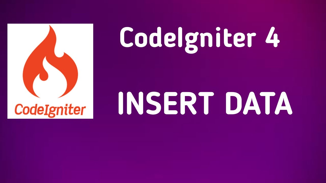 How to Insert Data in Database using Codeigniter 4