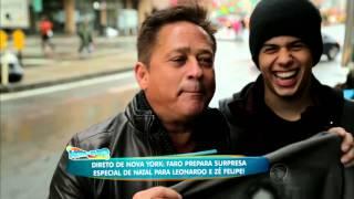 Faro, Zé Felipe e Leonardo em Nova York