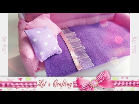 Как сделать одеяло или плед для куклы за 3 минуты