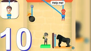 Rescue Cut - Rope Puzzle - Gameplay Walkthrough Part 10 All Levels 239-264 (Android Gameplay) screenshot 2