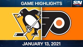 NHL Game Highlights   Penguins vs. Flyers – Jan. 13, 2020