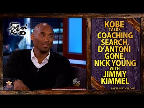 Lakers' Kobe Bryant Talks Coaching Search With Jimmy Kimmel