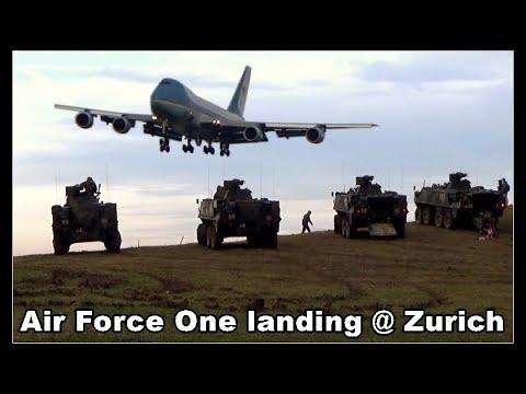 U.S. Air Force One landing at Zurich Airport, Planespotter's Dream, Switzerland 2018