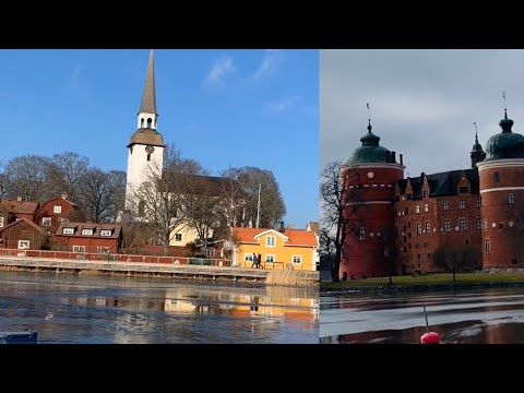 Mariefred- Virtual Walk In Swedish Small Town / Promenad I Mariefred