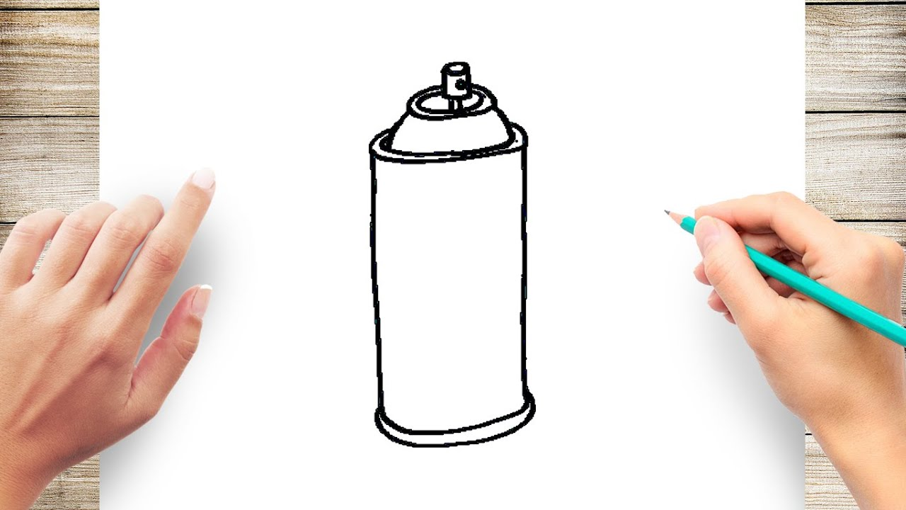 How To Draw A Spray Can Step By Step For Kids Youtube