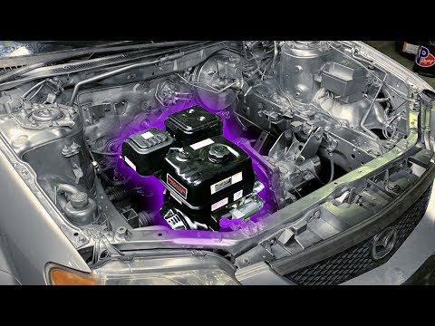 Harbor Freight ENGINE SWAP in a CAR!