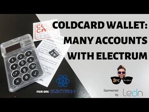 Coldcard Bitcoin Wallet + Electrum – How To Create Multiple Accounts