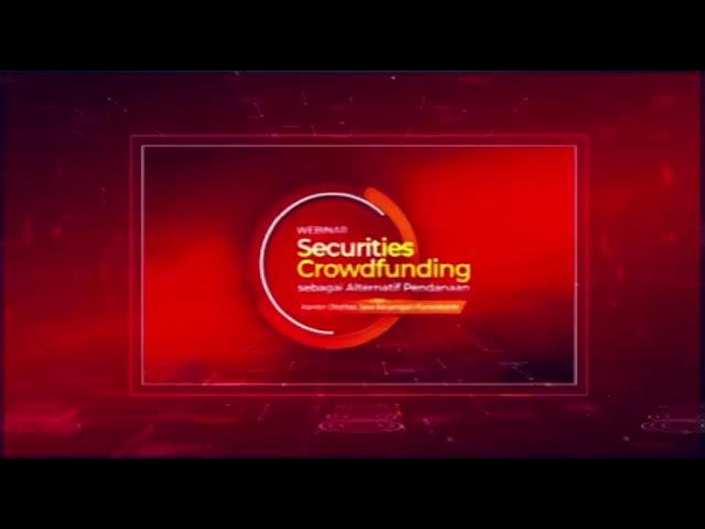 Webinar OJK Purwokerto Webinar Security Crowdfunding Alternatif Pendanaan pelaku UMKM & Usaha Mikro.