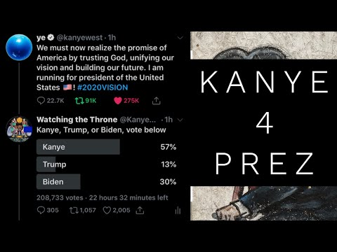 Kanye West is running for President of the United States in 2020