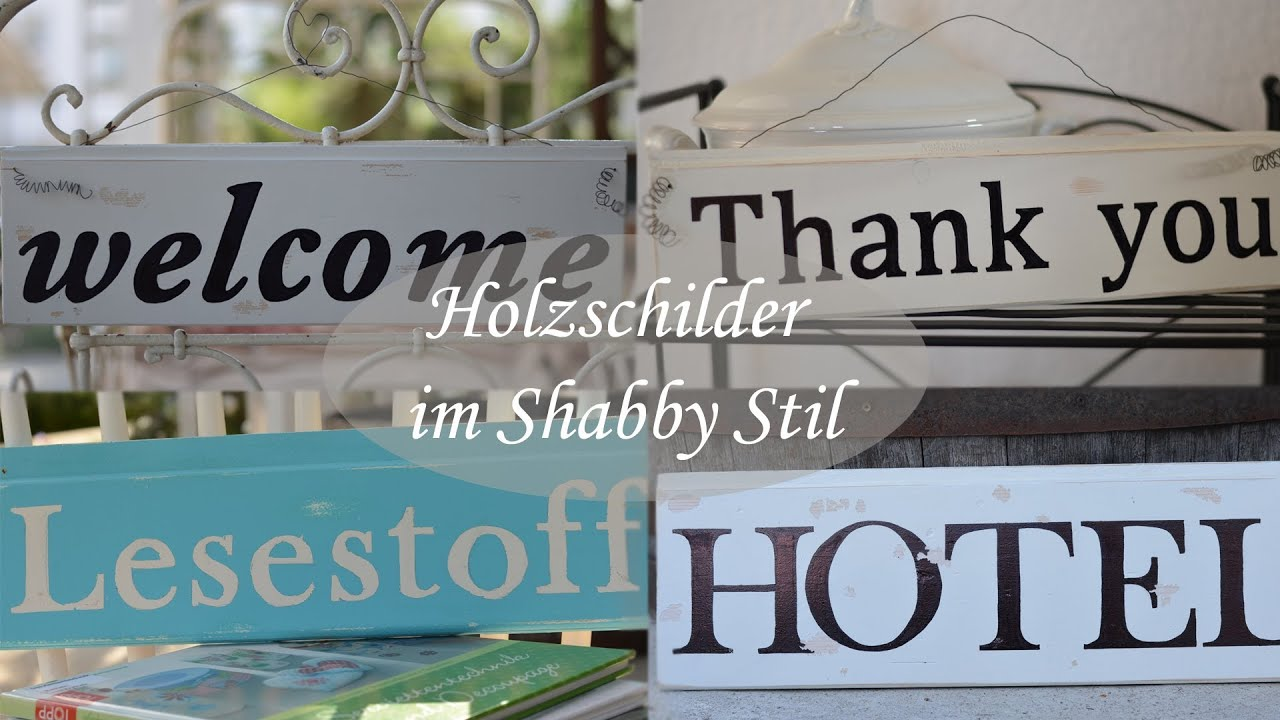 diy vintagestil shabbystil retrostil holzschilder mit schrift youtube. Black Bedroom Furniture Sets. Home Design Ideas