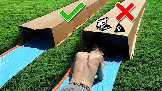 TRY NOT TO Slip 'N Slide Through the Wrong MYSTERY BOX!!