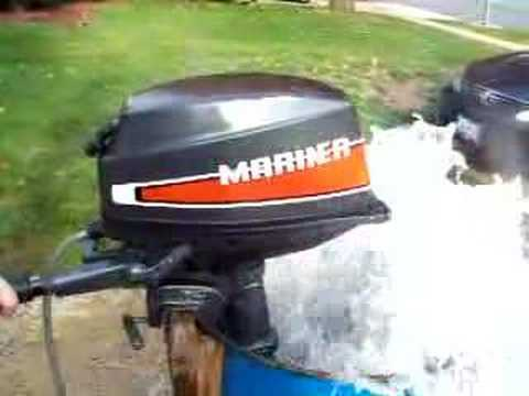 8 HP Mariner Outboard w/ Cover