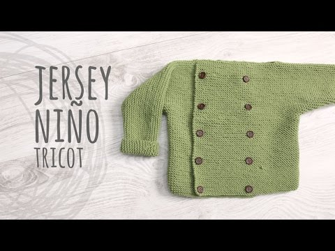 Tutorial Jersey Niño Tricot | Dos Agujas - YouTube