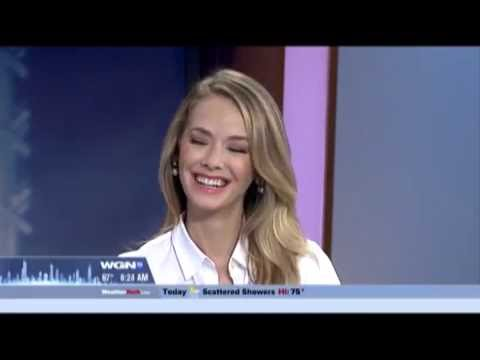 WGNcw Chicago, Illinois, Morning  with Former MIss USA, Olivia Jordan