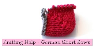 Knitting Help - German Short Rows