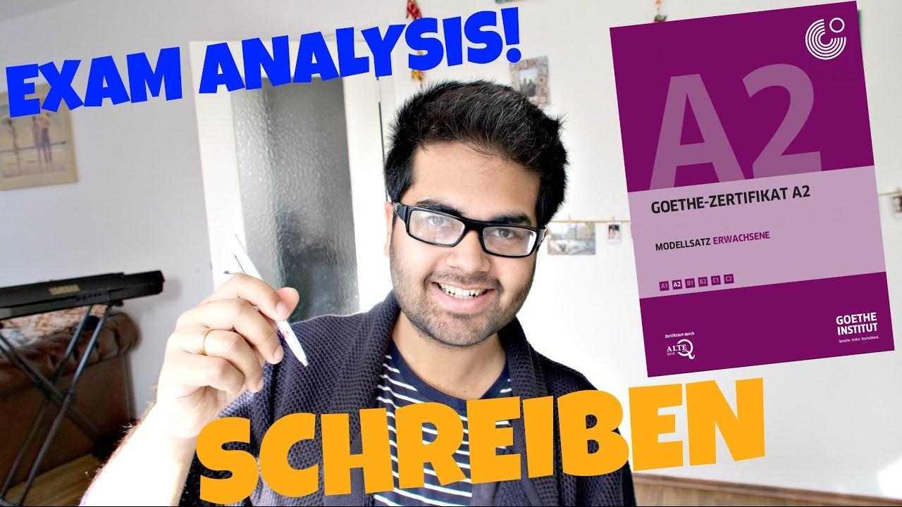 New Goethe Zertifikat A2: SCHREIBEN || Exam Analysis and TIPS (2/4)