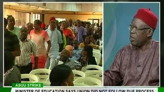 Professor Wilfred Iyiegbuniwe speaks on ASUU strike