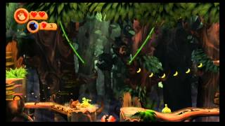 Donkey Kong Country Returns - Complete Playthrough (includes many failed attempts) - User video