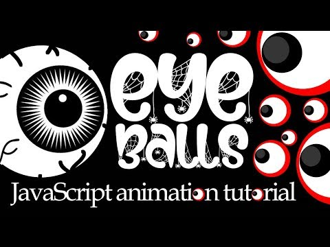 Eye Balls Animation - JavaScript HTML5 Canvas Effect Tutorial Trigonometry & Circles With No Overlap thumbnail