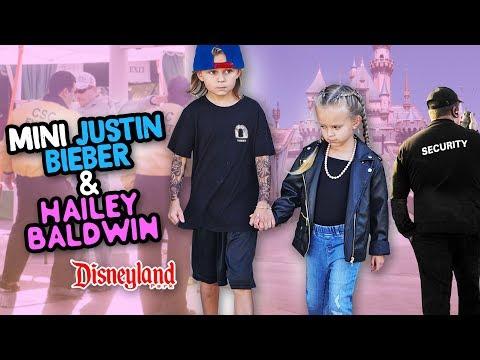 Exclusive DISNEYLAND tour! Mini Justin Bieber & Hailey Baldwin  Slyfox Family