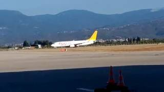 Edremit Koca Seyit Havaalanı Pegasus İstanbul uçağı inişi