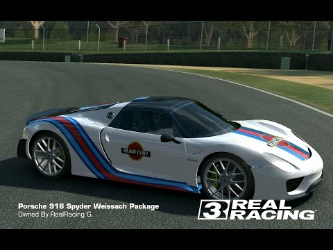 full download real racing 3 tuning porsche 918 spyder concept race. Black Bedroom Furniture Sets. Home Design Ideas