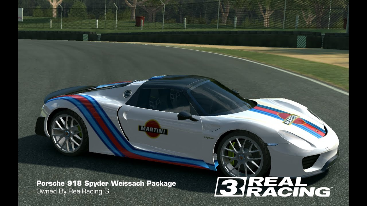 tune martini porsche 918 weissach package real racing 3 customize youtube. Black Bedroom Furniture Sets. Home Design Ideas