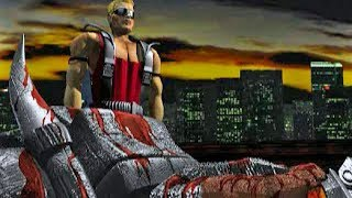 Duke Nukem 3D: Total Meltdown (PlayStation 1) - All Cutscenes and Endings Compilation