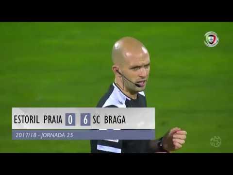 Estoril 0-(6) Braga (Liga 25ª J): Resumo