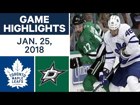 NHL Game Highlights | Maple Leafs vs. Stars - Jan. 25, 2018