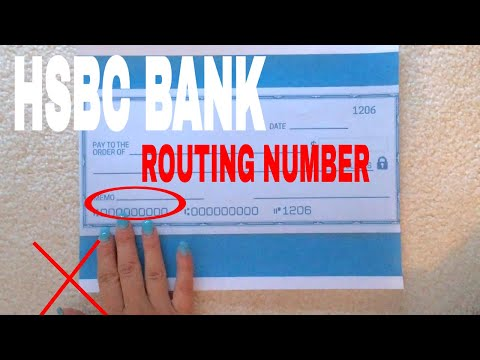 ✅  What Is HSBC Routing Number? 🔴