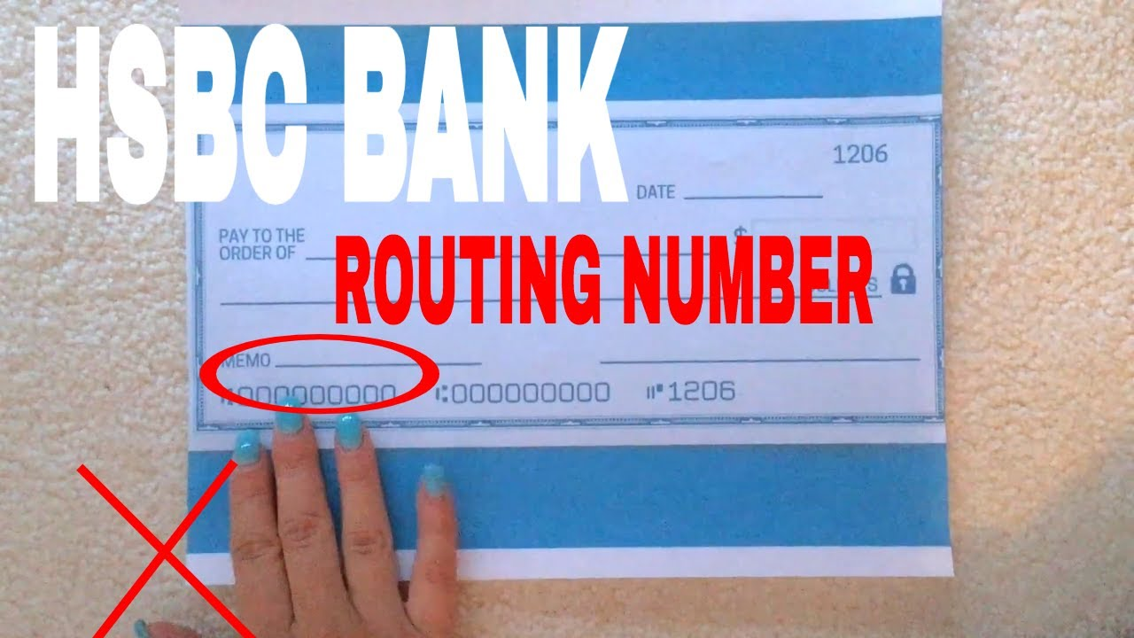 What Is Hsbc Routing Number You