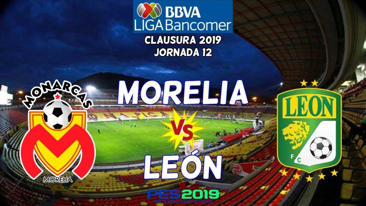 Pes 2019 Morelia Vs León Jornada 12 Liga Mx Gameplay