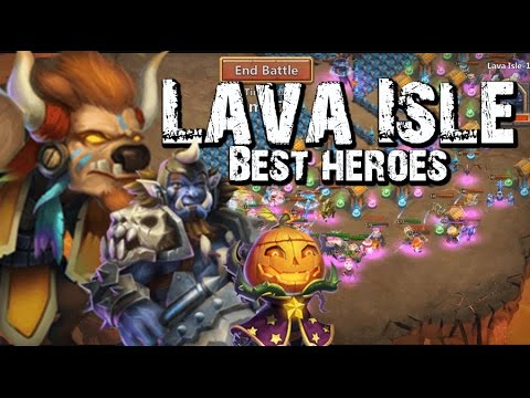 Castle Clash Lava Isle Best Heroes