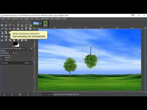 20.1 Tutorial de Gimp 2.10 Transformaciones de capas. Volteo e Inclinación. thumbnail