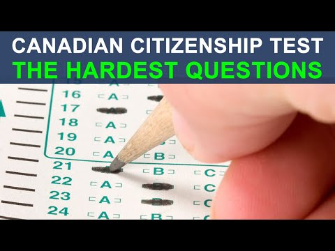 CANADIAN CITIZENSHIP TEST 2018 - THE HARDEST QUESTIONS
