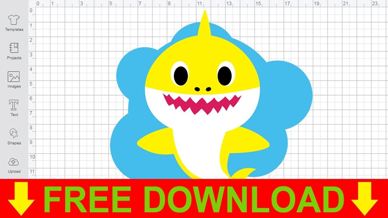 Baby Shark SVG Cutting Files Free for Cricut Silhouette - YouTube