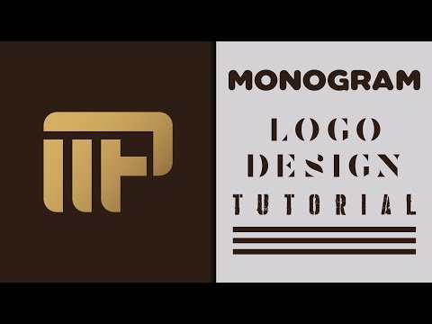 How To Make Monogram Logo Design   Adobe Illustrator Tutorial thumbnail