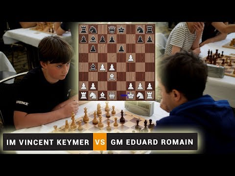 IM Vincent Keymer vs GM Eduard Romain | Blitz Chess Game | Lasker Memorial Blitz 2018 in Berlin