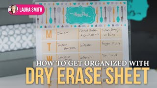 How to Get Organized with Dry Erase Menu Planner and Freezer Inventory Thumbnail