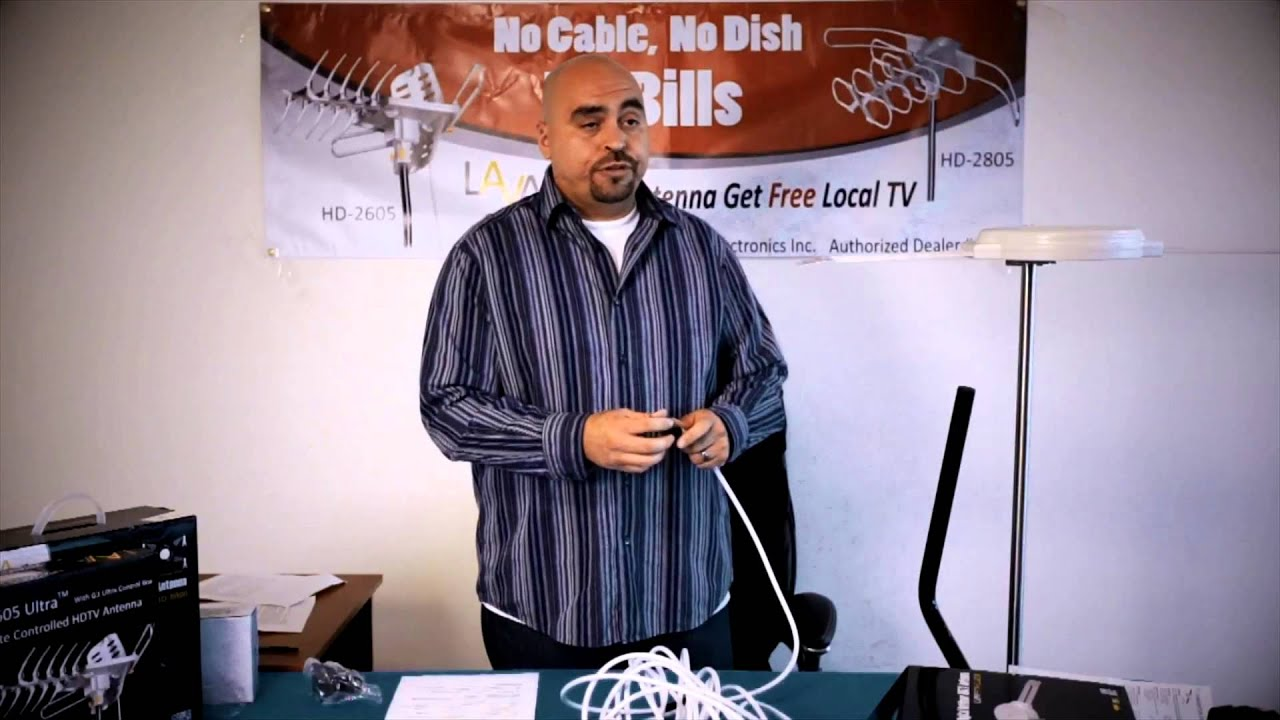 How To Install Lava Hd 8008 Antenna Youtube Direct Tv Wiring Diagram