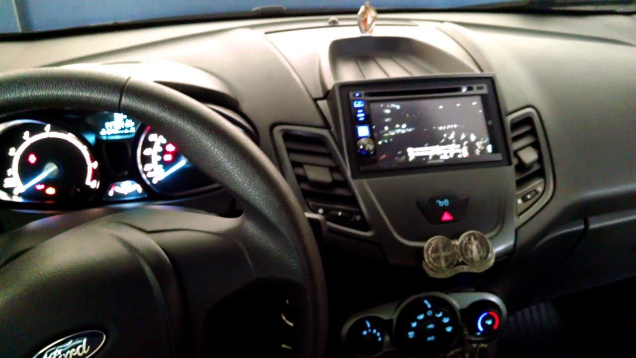 Ford Fiesta Sedan >> DVD GPS 2 din New Fiesta 1.5 moldura DEZZOT SOM - YouTube