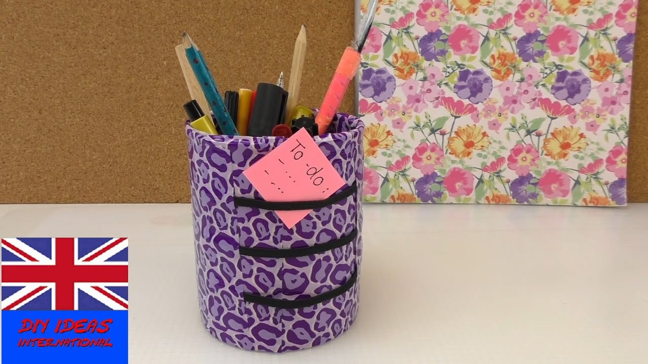 pen holder tutorial - how to decorate a tin - desk ...