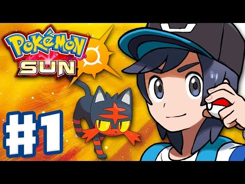Pokemon Sun and Moon - Gameplay Walkthrough Part 1 - Alola Intro and Litten Starter! (Nintendo 3DS)