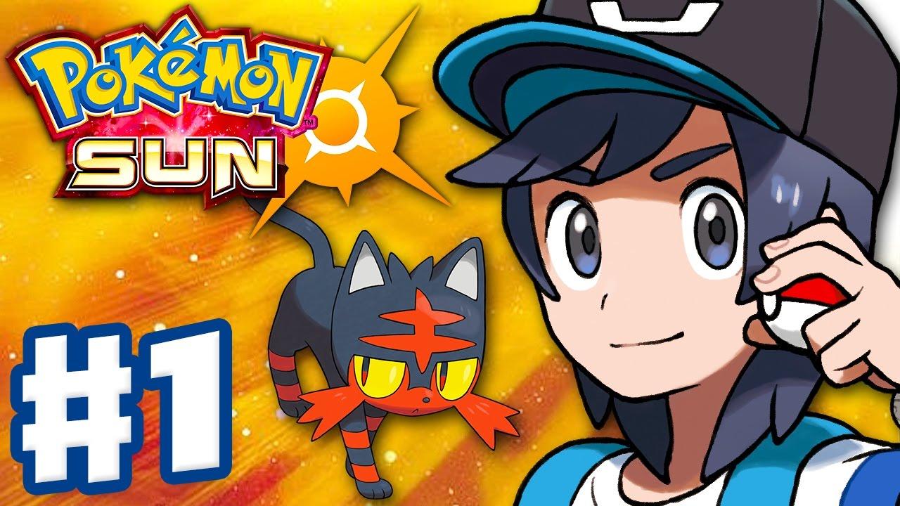 pokemon sun and moon - gameplay walkthrough part 1 - alola intro