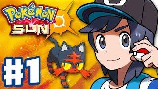 Pokemon Sun and M๐on - Gameplay Walkthrough Part 1 - Alola Intro and Litten Starter! (Nintendo 3DS)